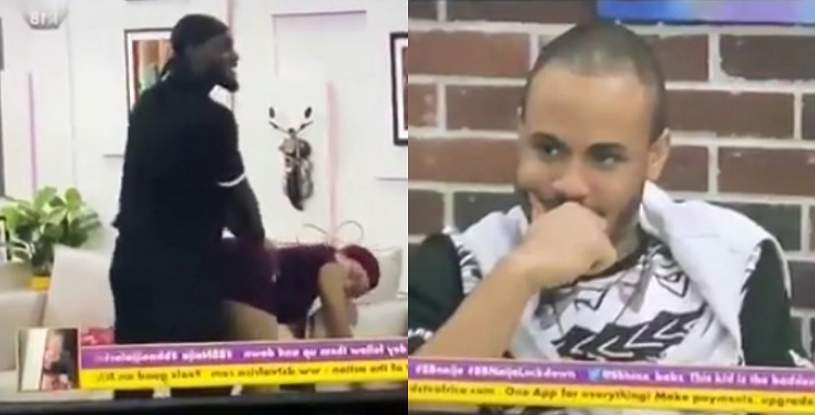 "#BBNaija: Ozo in pain as Prince uses Nengi to demonstrate his favourite ""sex-position"" (Video)"