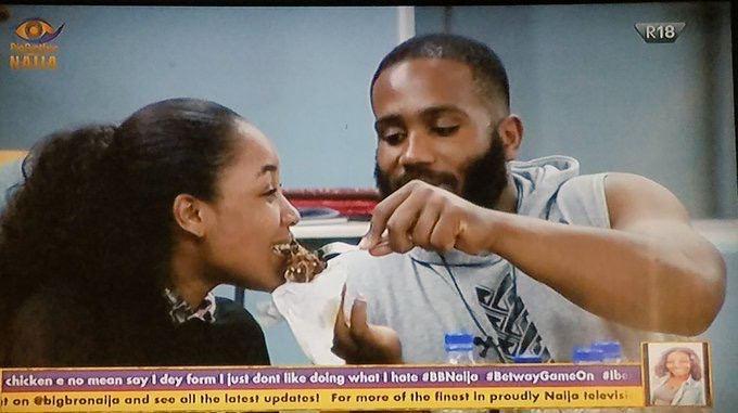 BBNaija 2020: Kiddywaya gropes Erica's breast while dancing and she reacts