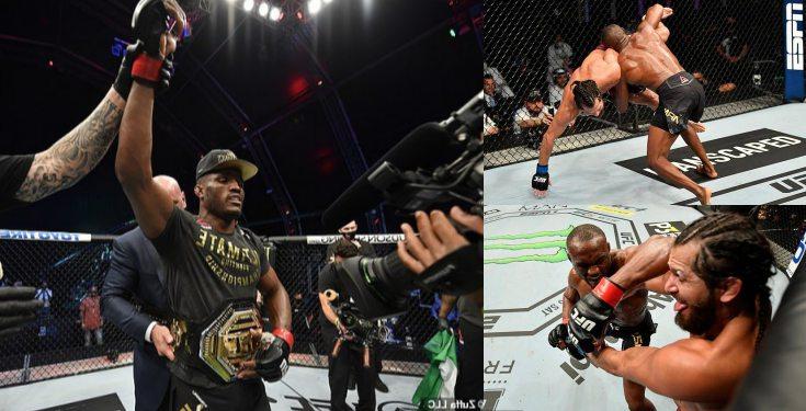 Kamaru Usman, retains his UFC welterweight championship