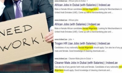 Mulitple Dubai companies begin rejecting Nigerian job applicants (screenshots)