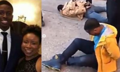 Nigerian mother cries out for justice after American police tased her son until he was unconscious (video)