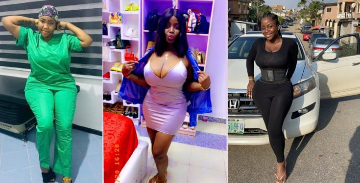 Omohtee who did botched surgery to enlarge her bumbum and hips shares her story