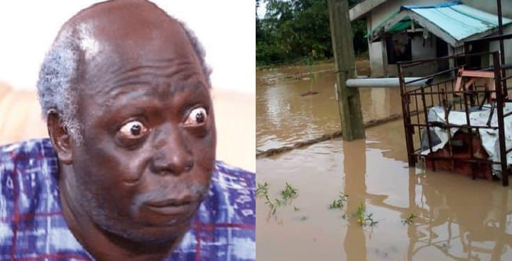 Pa James' son cries out for help as flood takes over his house (Photo)