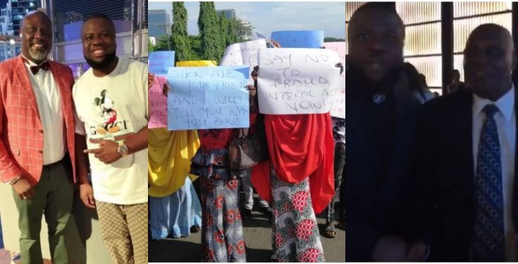 PDP chieftains Hushpuppi protest