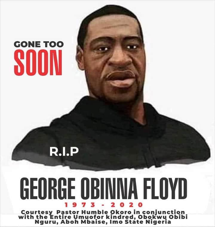 """Pastor """"Reburies"""" George Floyd"""