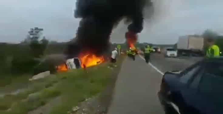 Fallen Fuel Tanker Exploded