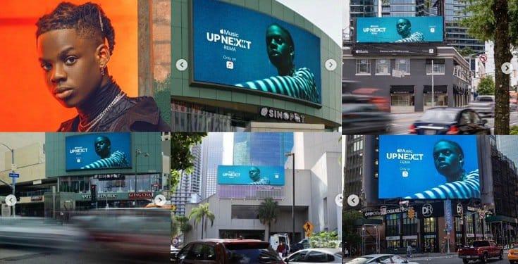 Rema makes it to billboards in Miami