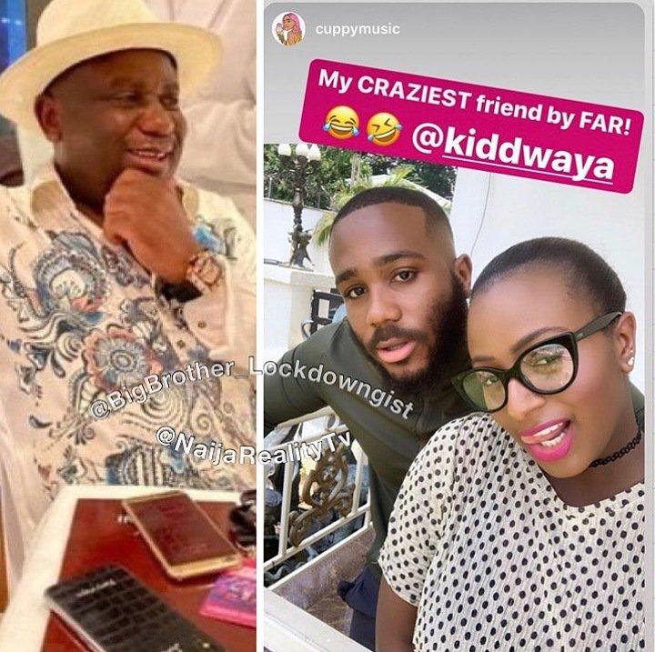 DJ Cuppy Supports Kiddwaya