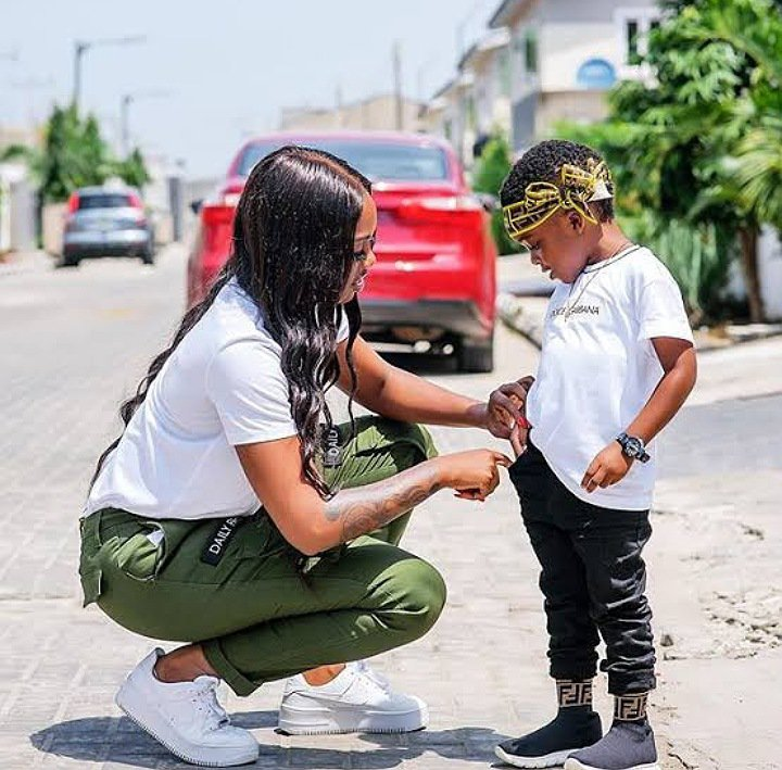 Tiwa Savage necklace for son