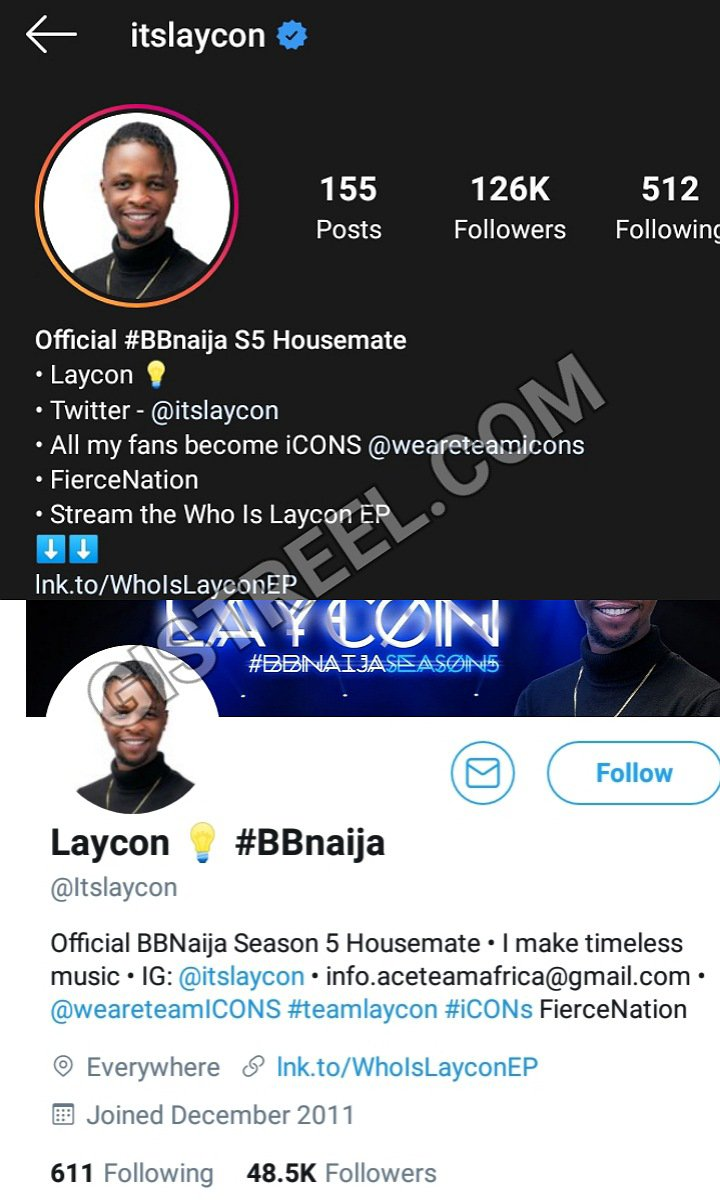 Laycon Verified On Triller