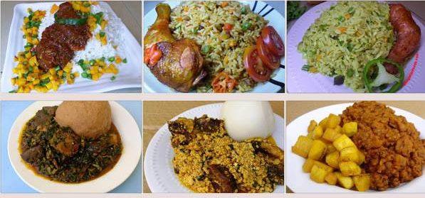 Nigerian girls selling food