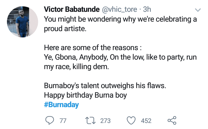 Fans celebrate Burna Boy