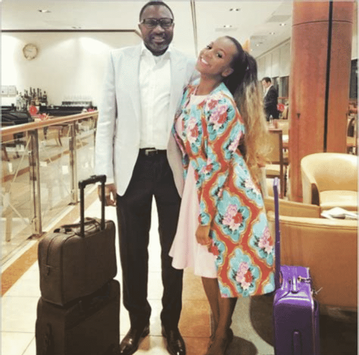 DJ Cuppy teaches her dad how to use smartphone