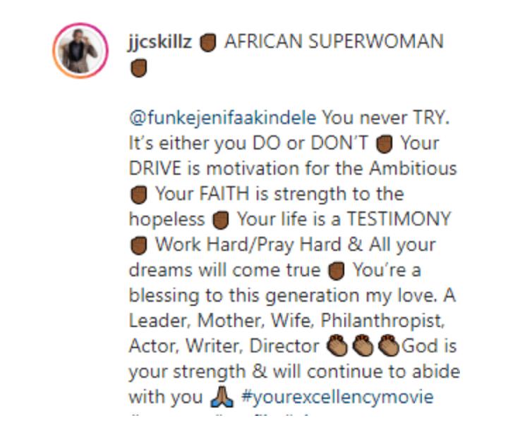 Funke Akindele's husband gushes over her