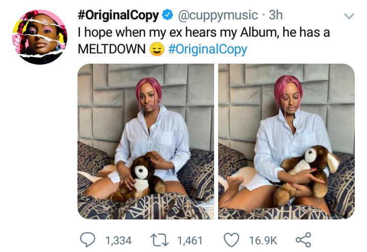 DJ Cuppy says her Ex will have a meltdown