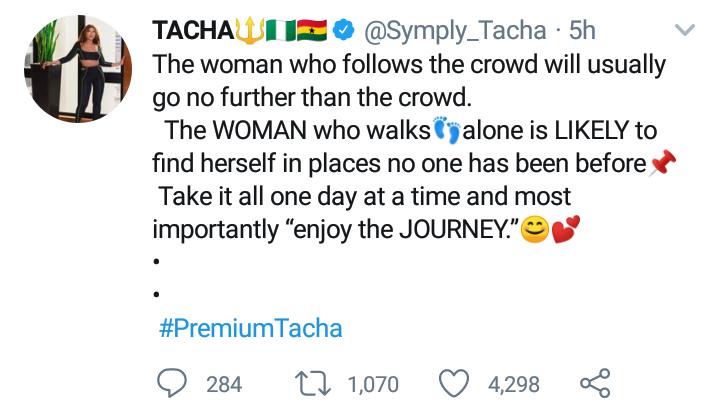 Tacha advises women