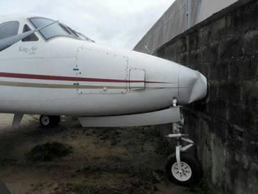 Jet crashes into fence