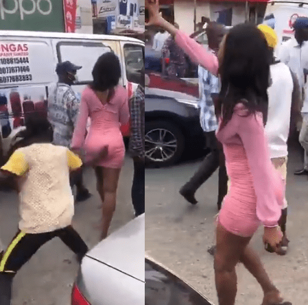 Lady lay curses on tout who grabbed her butt in Computer Village (Video)