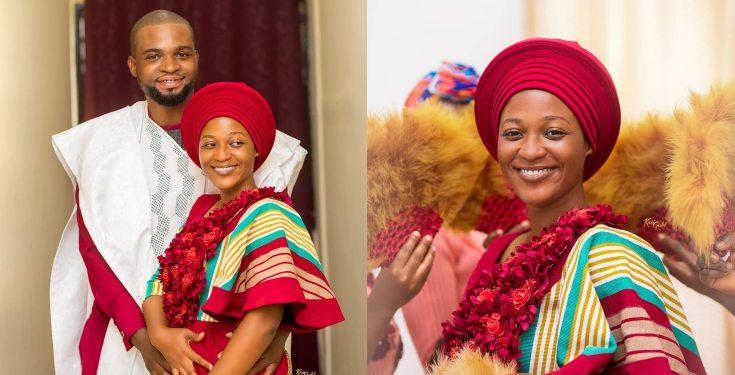 Ghanaian bride weds without makeup and accessories (photos)