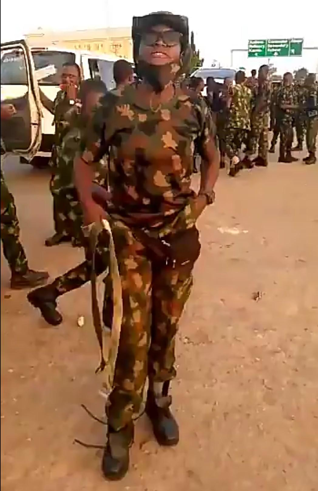 Newly recruited soldiers vow to deal with civilians