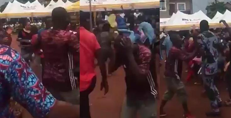 Man Slapped Into Oblivion While Struggling For Money At An Event (Video)