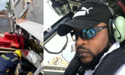 Lady mourns pilot of ill-fated helicopter that crashed in Lagos