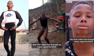 Nigerian ballet boy who went viral for dancing in the rain gets emotional as he prepares for America
