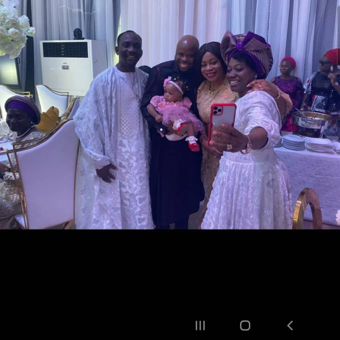 Sinach and her daughter Rhoda at wedding