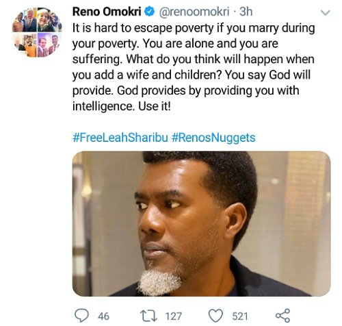 Reno Omokri Poverty