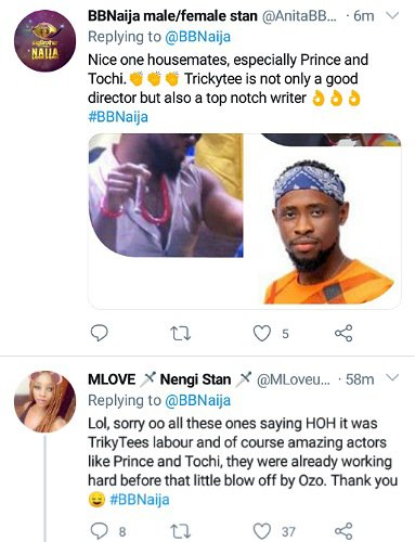 BBNaija Housemates Win Their First Wager