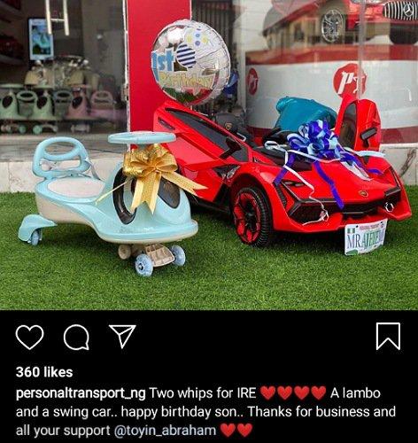 Toyin Abraham son cars