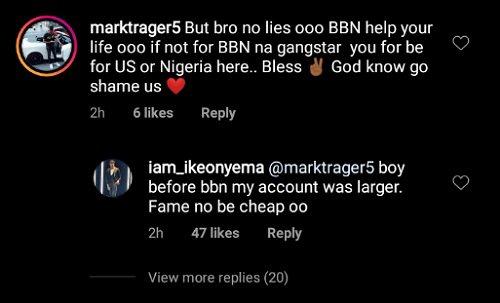 I Was Richer Even Before BBNaija - Ike Onyema