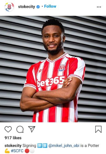 Mikel Obi To Stoke City