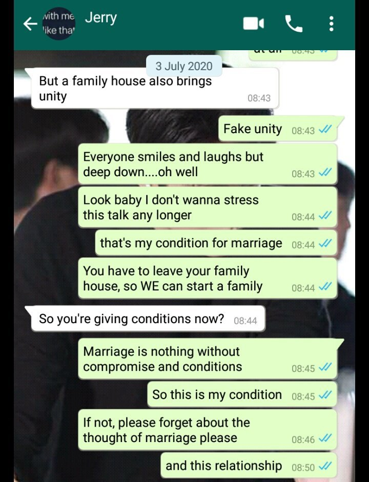 I can't marry you if you still live in a family house