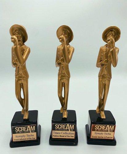 Tacha shows off 3 awards