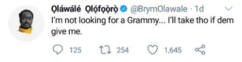 I'm bigger than Grammy award - Brymo