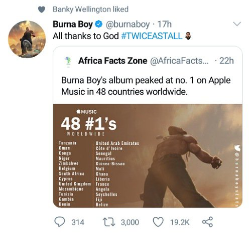 Twice as Tall No.1 in 48 countries