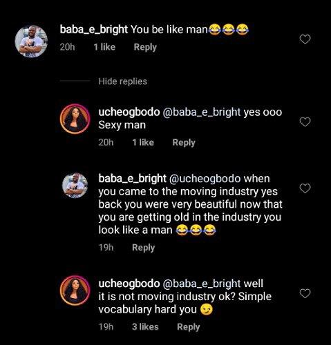 Uche Ogbodo blasts troll