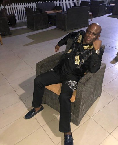 Terry Waya displays his watches