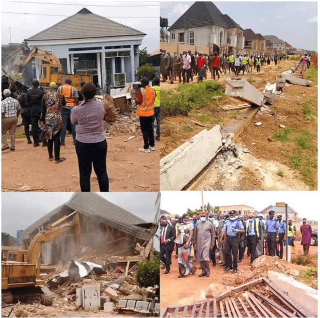 Enugu government demolition
