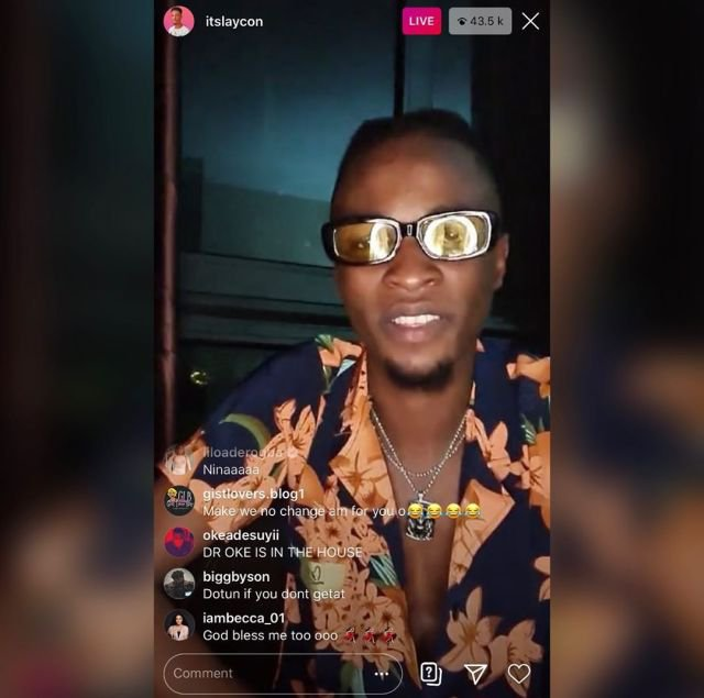 Laycon first Instagram Live session
