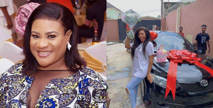 nkechi blessing gifts sister a car