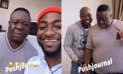 Comic actor Mr Ibu visits Davido's mansion
