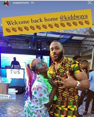 DJ Cuppy welcomes Kiddwaya back