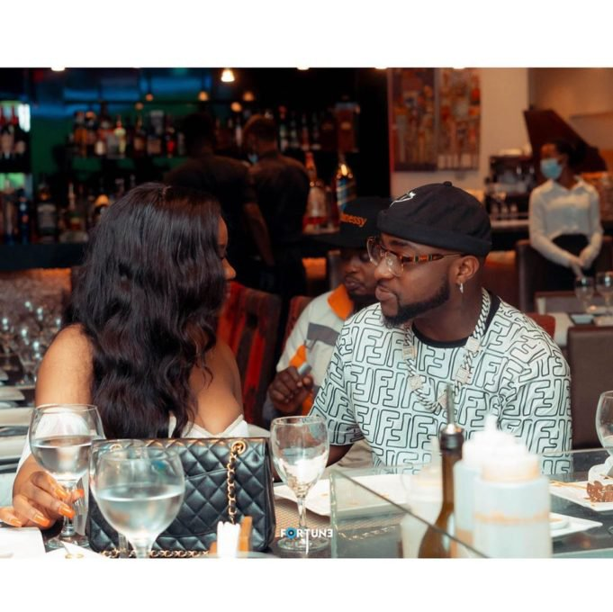 Davido goes on a date with Chioma