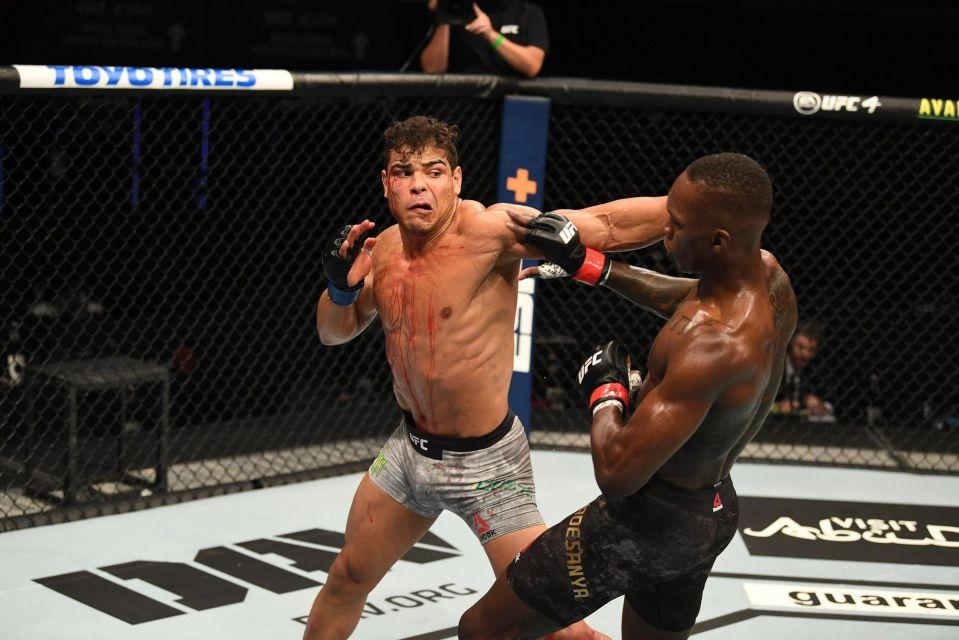 Israel Adesanya knocks out Paulo Costa