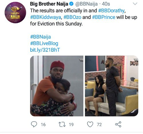 See How Housemates Nominated Each Other For Eviction