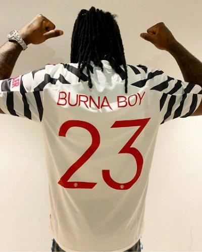 Burna Boy receives jersey gift