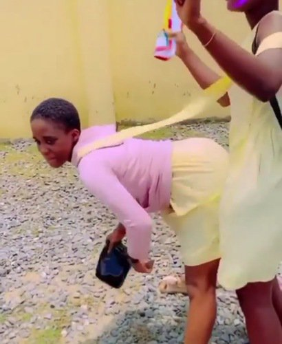 Female students twerk away their sorrows