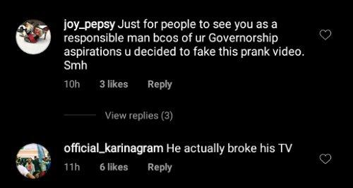 Soso Soberekon breaks his TV